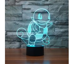 Beling 3D lampa,Squirtle, 7 farebná S484