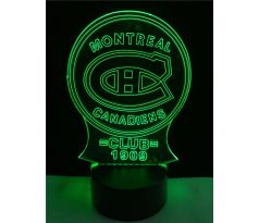 Beling 3D lampa, Montreal Canadiens, 7 farebná S494