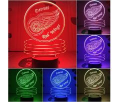Beling 3D lampa, Detroit Red Wings, 7 farebná S490