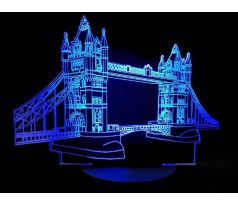 Beling 3D lampa,Tower Bridge London, 7 farebná SMSL5T8