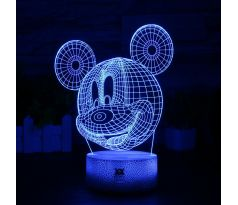 Beling 3D lampa Mickey mouse, 7 Farebná QSX8F